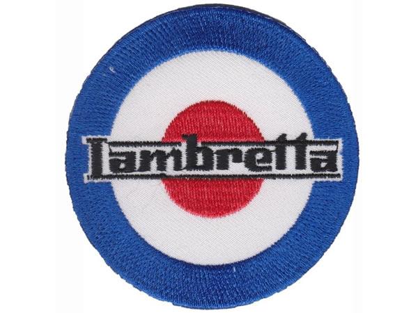 画像1: イタリア 刺繍ワッペン Lambretta【カラー・ホワイト】【カラー・ブラック】【カラー・ レッド】【カラー・ ブルー】
