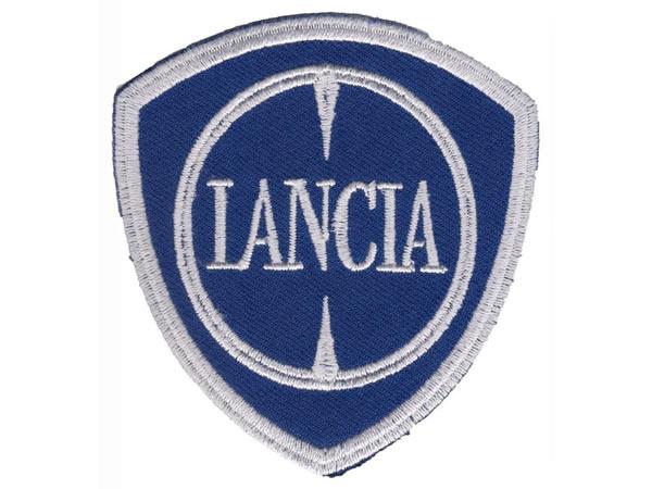 画像1: イタリア 刺繍ワッペン LANCIA【カラー・ホワイト】【カラー・ ブルー】
