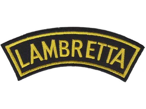 画像1: イタリア 刺繍ワッペン LAMBRETTA 【カラー・ブラック】【カラー・イエロー】