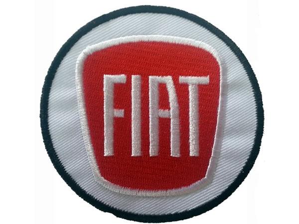 画像1: イタリア 刺繍ワッペン FIAT 【カラー・ホワイト】【カラー・レッド】【カラー・ブラック】