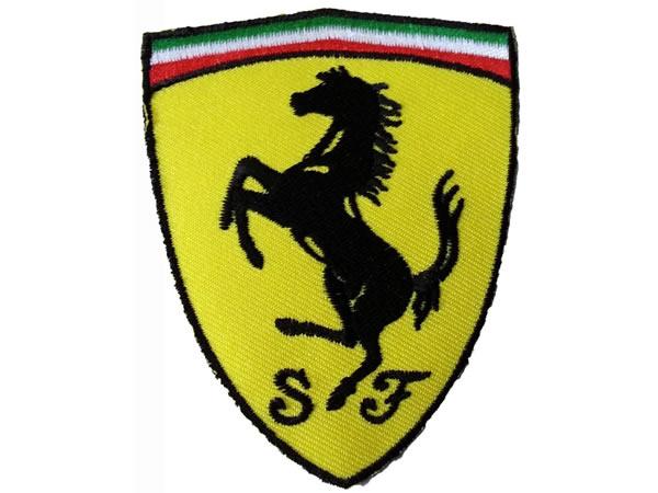 画像1: イタリア 刺繍ワッペン Ferrari【カラー・イエロー】【カラー・ホワイト】【カラー・レッド】【カラー・グリーン】
