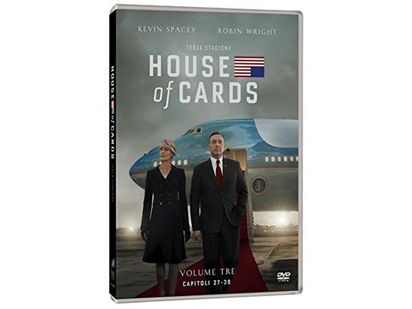 画像1: イタリア語などで観るケヴィン・スペイシーの「ハウス・オブ・カード 野望の階段 シーズン3」 DVD 4枚組  【B2】【C1】