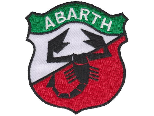 画像1: イタリア 刺繍ワッペン ABARTH 【カラー・ホワイト】【カラー・レッド】【カラー・グリーン】