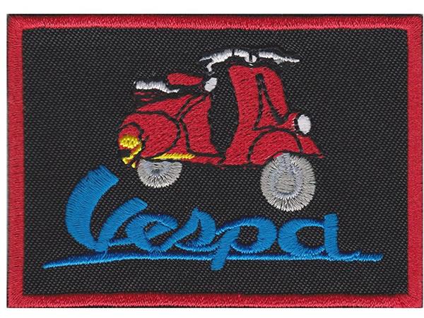 画像1: イタリア 刺繍ワッペン Vespa  【カラー・ブラック】【カラー・レッド】【カラー・ブルー】