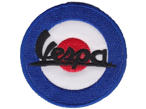 画像1: イタリア 刺繍ワッペン Vespa  【カラー・ブラック】【カラー・レッド】【カラー・ブルー】【カラー・ホワイト】