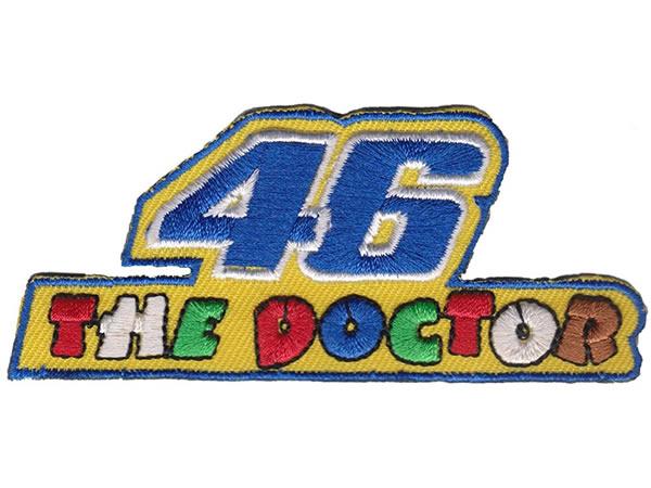 画像1: イタリア 刺繍ワッペン The Doctor 46 VALENTINO ROSSI 【カラー・イエロー】【カラー・ホワイト】【カラー・グリーン】【カラー・ブルー】