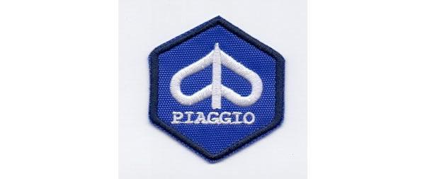 画像1: イタリア 刺繍ワッペン PIAGGIO 【カラー・ブルー】【カラー・ホワイト】【カラー・ブラック】