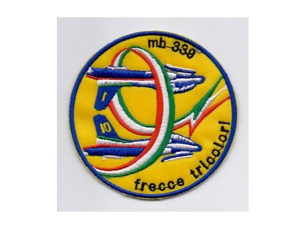 画像1: イタリア 刺繍ワッペン FRECCE TRICOLORI MB-339 【カラー・ブルー】【カラー・イエロー】【カラー・レッド】【カラー・グリーン】