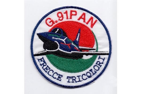 画像1: イタリア 刺繍ワッペン FRECCE TRICOLORI G.91 PAN 【カラー・ブルー】【カラー・ホワイト】【カラー・レッド】【カラー・グリーン】