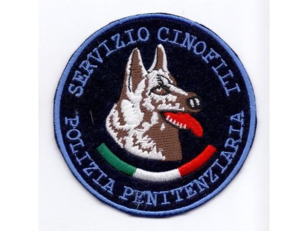 画像1: イタリア 刺繍ワッペン POLIZIA PENITENZIARIA SERVIZIO CINOFILI  【カラー・ブルー】【カラー・ホワイト】【カラー・レッド】【カラー・グリーン】