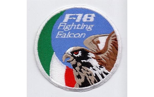 画像1: イタリア 刺繍ワッペン F16 FLGHTING FALCON ITALIA  【カラー・ブルー】【カラー・ホワイト】【カラー・レッド】【カラー・グリーン】