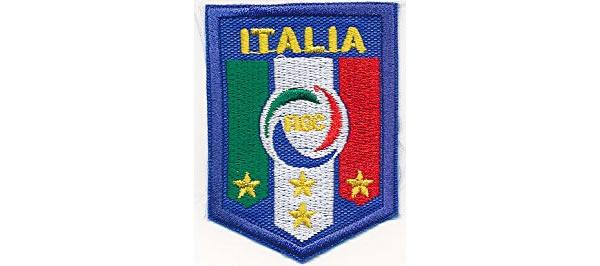 画像1: イタリア 刺繍ワッペン ITALIAN CUP 【カラー・イエロー】【カラー・ホワイト】【カラー・レッド】【カラー・グリーン】【カラー・ブルー】