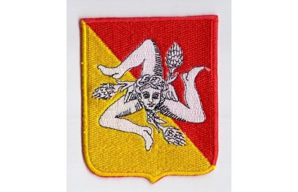画像1: イタリア 刺繍ワッペン シチリア トリナクリア 【カラー・イエロー】【カラー・レッド】