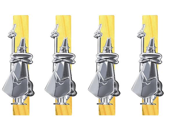 画像1: パッケージ用クリップ 4個セット Bialetti(ビアレッティ)