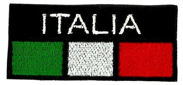 画像1: 【特価限定1】イタリア 刺繍ワッペン イタリア国旗 【カラー・ホワイト】【カラー・レッド】【カラー・グリーン】