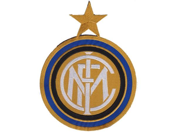 画像1: イタリア 刺繍ワッペン INTER サイズ大  【カラー・ホワイト】【カラー・ブラック】【カラー・ブルー】【カラー・イエロー】