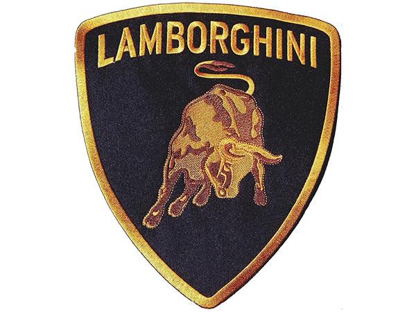 画像1: イタリア 刺繍ワッペン LAMBORGHINI サイズ大 【カラー・ブラック】【カラー・イエロー】