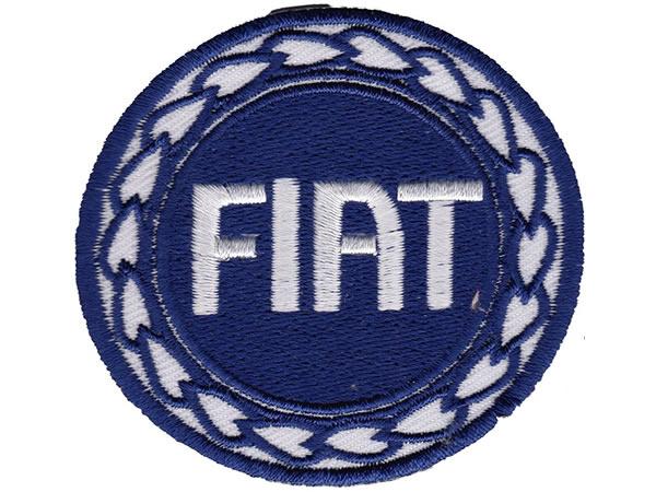 画像1: イタリア 刺繍ワッペン FIAT【カラー・ホワイト】【カラー・ ブルー】