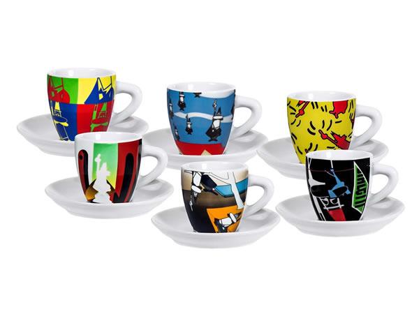 画像1: エスプレッソコーヒーカップ 6客セット Bialetti(ビアレッティ)ARTE【カラー・マルチ】