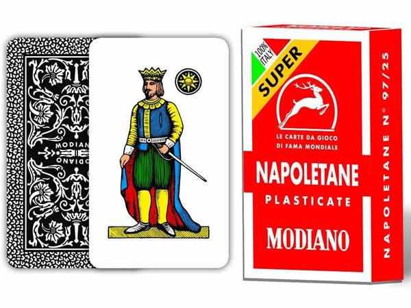 画像1: MODIANO ナポリタン・トランプ Napoletane 97/25 300043 【カラー・マルチ】