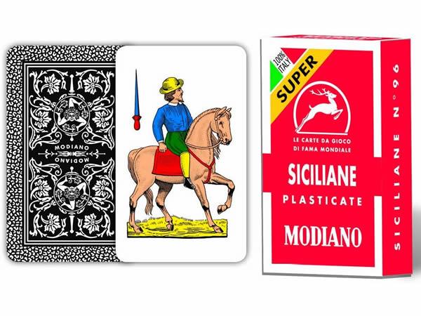 画像1: MODIANO シチリアーノ・トランプ Siciliane 96 300098 【カラー・マルチ】