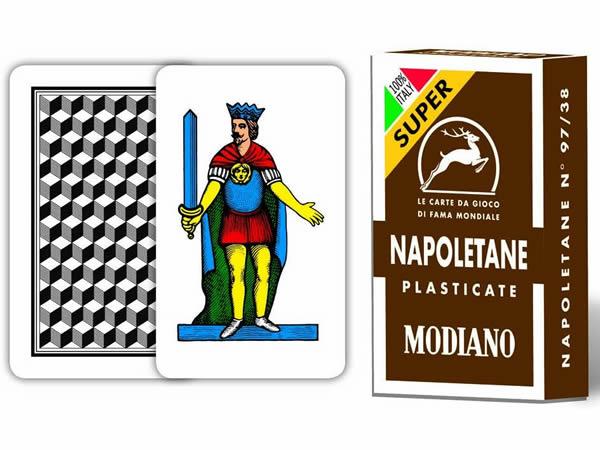 画像1: MODIANO ナポリタン・トランプ Napoletane 97/38 300042 【カラー・マルチ】