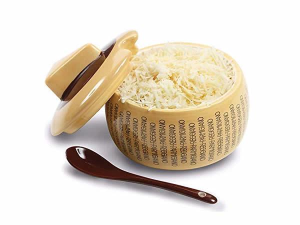 画像1: イタリア 陶製 粉チーズ入れ FORMAGGIO PARMIGIANO REGGIANO【カラー・イエロー】
