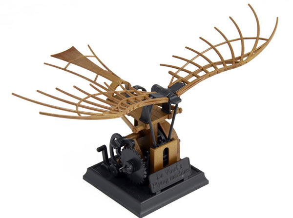 画像1: Italeri 羽ばたき飛行機模型 レオナルド・ダ・ヴィンチ【カラー・ブラウン】