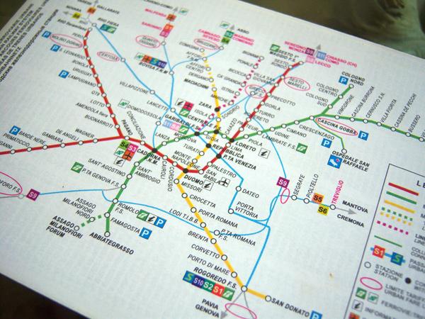 画像3: ミラノ シティマップ ポケットサイズで便利! 地下鉄・バス・トラム路線付き 【カラー・イエロー】 【A1】