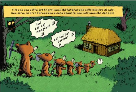画像2: イタリア語で読む、絵本 金髪姫と7人の熊の小人 【A2】 【B1】