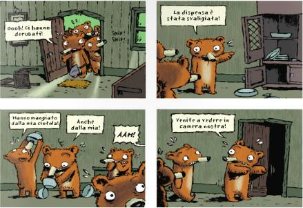 画像3: イタリア語で読む、絵本 金髪姫と7人の熊の小人 【A2】 【B1】