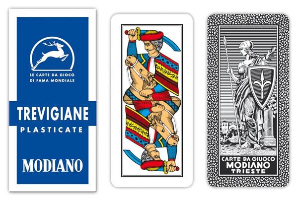 画像1: MODIANO トレヴィーゾ・トランプ Trevigiane 89/20 300132 【カラー・マルチ】