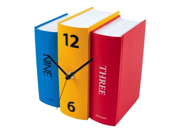 画像1: 三色使いが可愛い置き時計【カラー・マルチ】