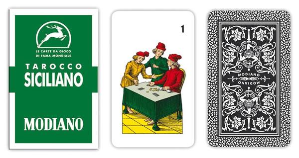 画像1: MODIANO シチリアーノ・タロット Tarocco Siciliano 94 300105【カラー・マルチ】