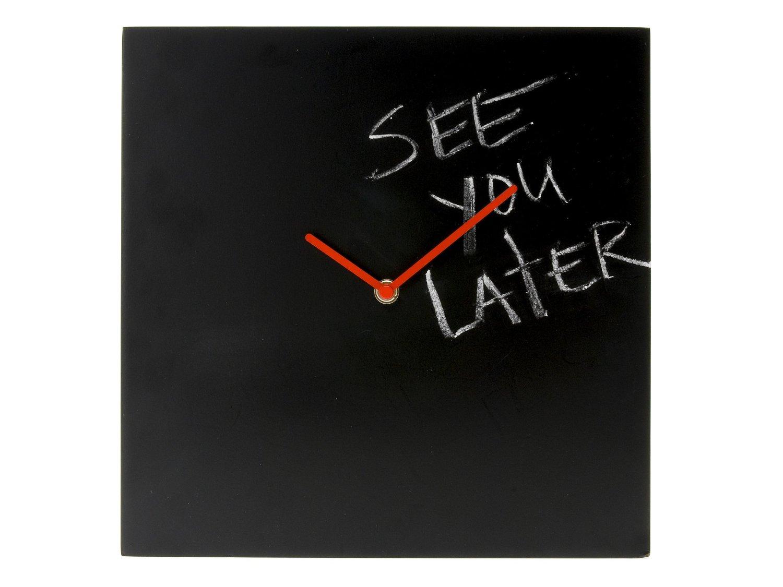 画像1: 文字盤が黒板の掛け時計【カラー・レッド】【カラー・ブラック】