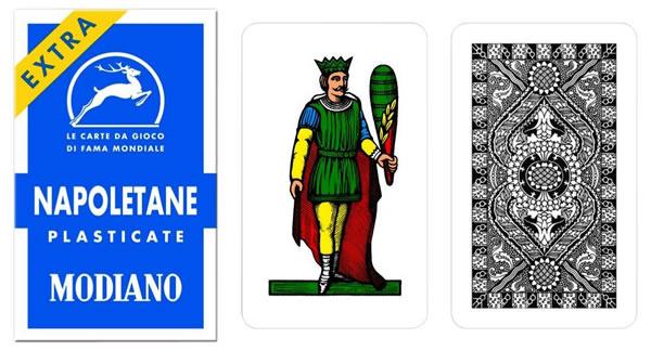 画像1: MODIANO ナポリタン・トランプ Napoletane 97/31 300037【カラー・マルチ】