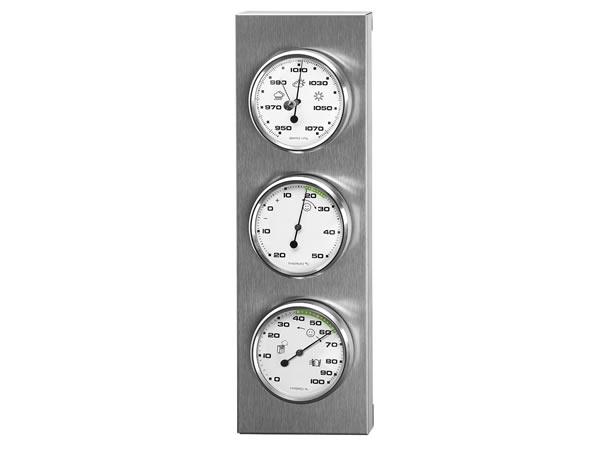 画像1: シンプルな湿度計・温度計・気圧計【カラー・ホワイト】【カラー・グレー】