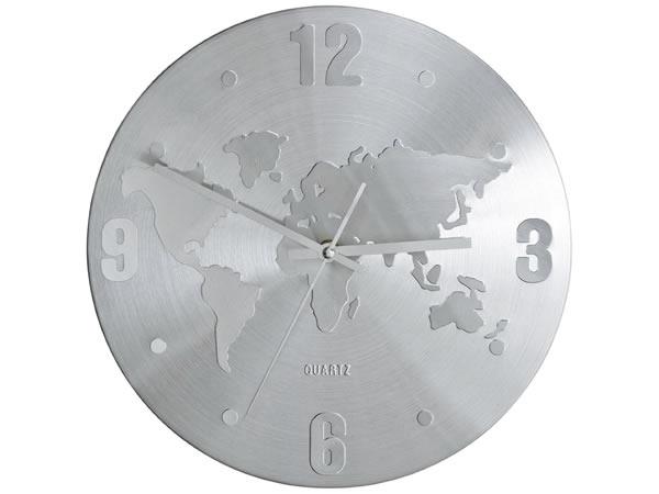 画像1: 世界地図がモチーフの掛け時計【カラー・ホワイト】【カラー・グレー】