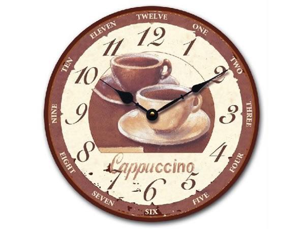 画像1: カプチーノがモチーフの掛け時計【カラー・ブラウン】【カラー・ホワイト】