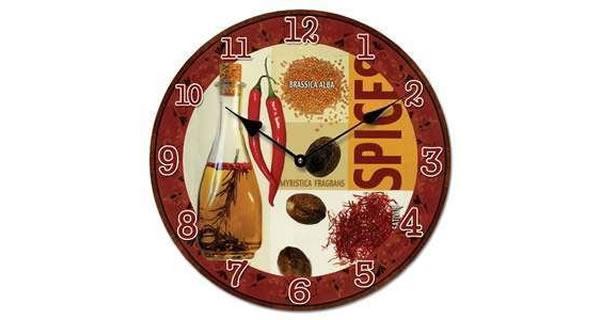 画像1: スパイスモチーフの掛け時計【カラー・レッド】【カラー・イエロー】