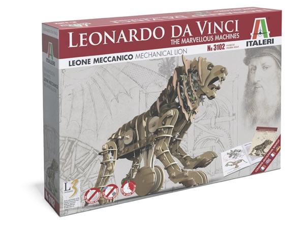 画像2: Italeri メカニカル・ライオン模型 レオナルド・ダ・ヴィンチ【カラー・ブラウン】