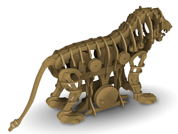 画像1: Italeri メカニカル・ライオン模型 レオナルド・ダ・ヴィンチ【カラー・ブラウン】
