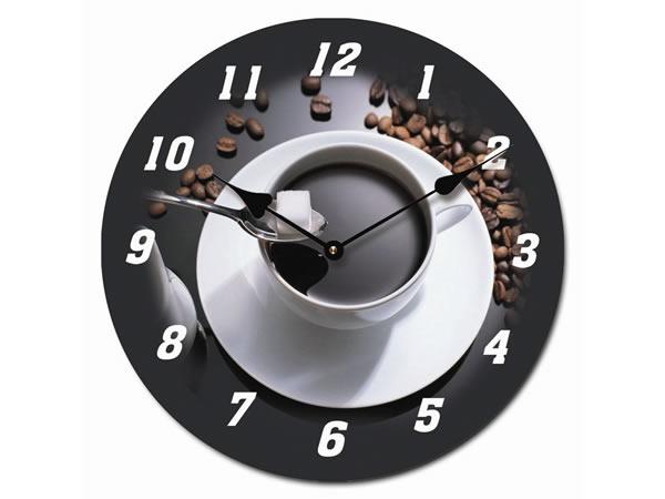 画像1: カプチーノがモチーフの掛け時計【カラー・ブラック】【カラー・ホワイト】