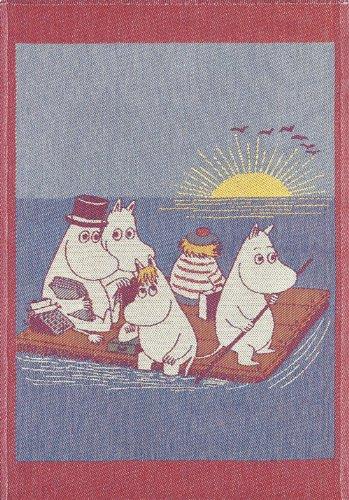 画像1: ムーミン キッチン布巾 イカダに乗って