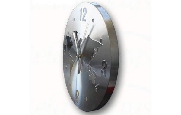 画像2: 世界地図がモチーフの掛け時計【カラー・ホワイト】【カラー・グレー】