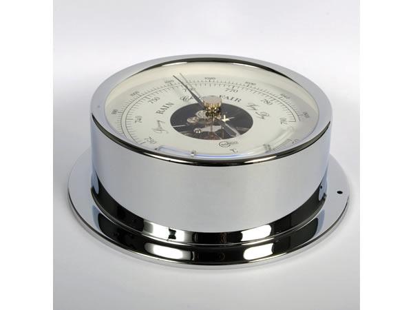 画像2: シンプルな気圧計・温度計 シルバー【カラー・ホワイト】【カラー・グレー】