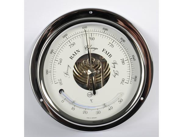 画像1: シンプルな気圧計・温度計 シルバー【カラー・ホワイト】【カラー・グレー】