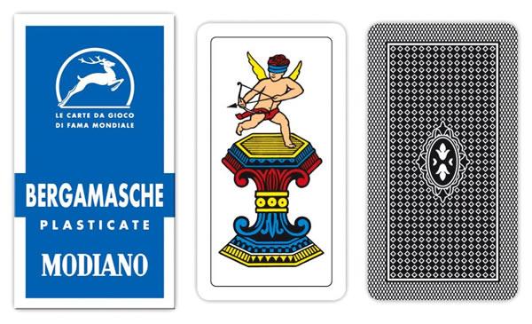 画像1: MODIANO ベルガモ・トランプ Bergamasche 90 300010 【カラー・マルチ】