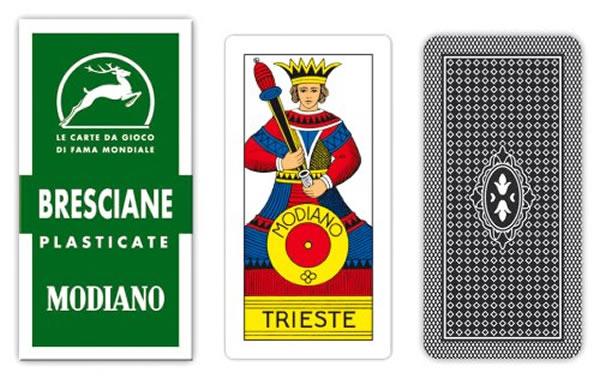 画像1: MODIANO ブレシャ・トランプ Bresciane 90 300016【カラー・マルチ】