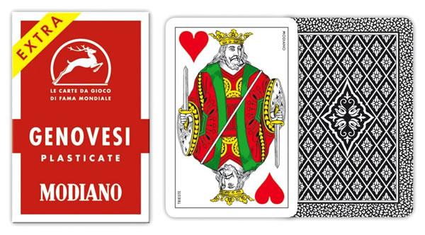 画像1: MODIANO ジェノヴェーゼ・トランプ Genovesi 86 300020【カラー・マルチ】